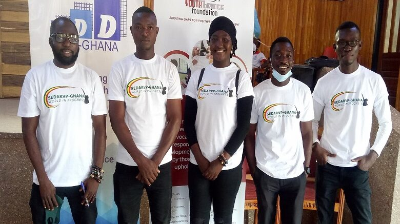 Members of Sedarvp Ghana at Youth Speaks Forum