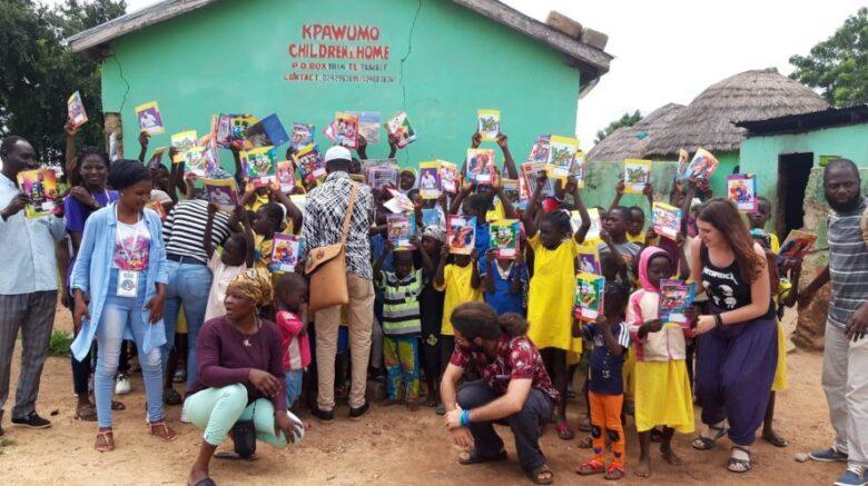 'Grow Together Foundation' in partnership with Sedarvp-Ghana donates to needy students in Kpawumo village School