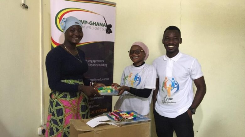 SEDARVP Ghana donates Learning Materials to 'Grow Together Foundation'